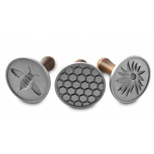 Nordic Ware Set of 3 Honeybee Cast Cookie Stamps
