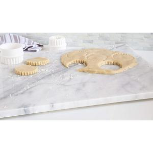 "Fox Run White Marble Pastry Board 20"" x 16"""