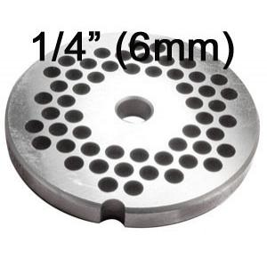 Porkert Meat Grinder #10 Replacement Grinder Plate 1/4""
