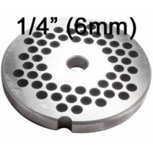Porkert Meat Grinder #22 Replacement Grinder Plate 1/4""