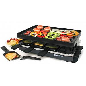 Swissmar 8 Person Black Classic Raclette w/ Cast Iron Grill