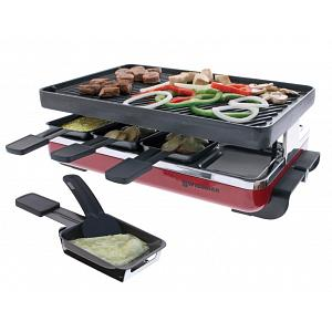 Swissmar 8 Person Red Classic Raclette w/ Cast Iron Grill