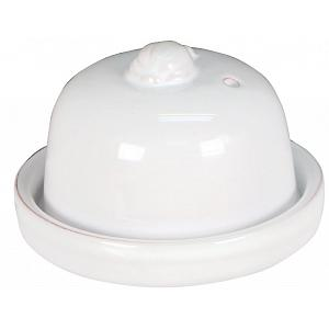 Romertopf Terra Cotta White Glazed Garlic Roaster