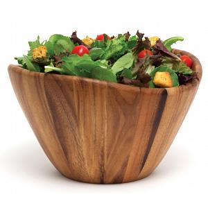 Natural Living Acacia Wood Salad Bowl