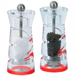 "Salt & Pepper Mill Set ""Java"" - Red 15cm"