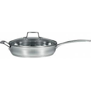 "Scanpan Impact 11"" Stainless Steel Saute Pan with Lid"