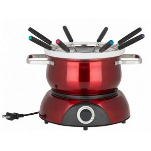 Trudeau Scarlet Red Electric 3-in-1 Fondue Set for 8