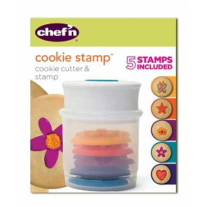 Chef'n Various Shapes Cookie Stamp and Cutter Set
