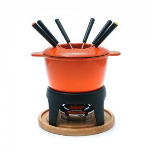 Swissmar Sierra Orange 3 in 1 Fondue Set
