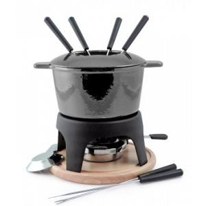 Swissmar Sierra Metallic Black 3 in 1 Fondue Set