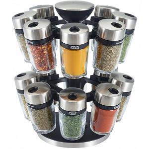 Cole & Mason 16-Jar Herb and Spice Carousel Rack
