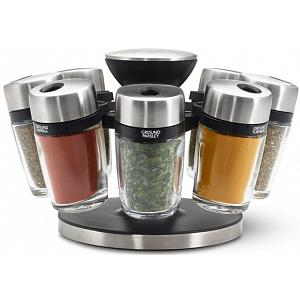 Cole & Mason 8-Jar Herb and Spice Carousel Rack