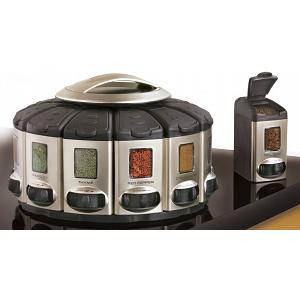 KitchenArt Satin Select-A-Spice Auto-Measure Spice Carousel