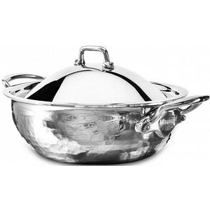 Mauviel M'elite 1.6L Stainless Steel Saute Pan