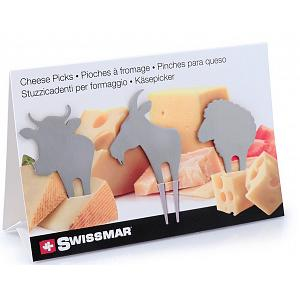 Swissmar Farm Animal Cheese Pick Set of 3