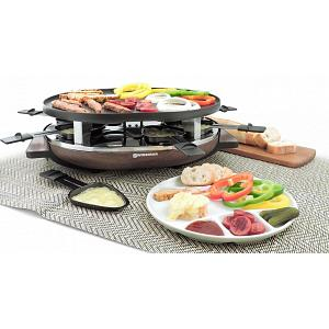 Swissmar 8 Person Matterhorn Raclette Grill with Wood Base