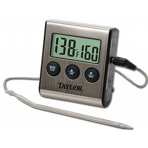 Taylor Programmable Digital Probe Thermometer with Timer