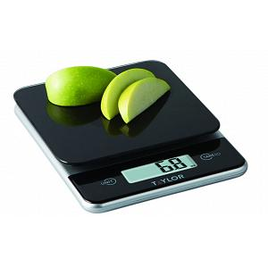 Taylor Black Glass Digital Kitchen Scale