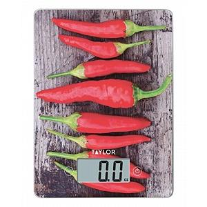 Taylor Chili Peppers Digital Kitchen Scale