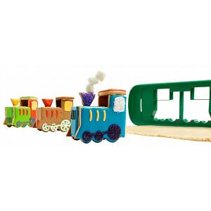 Chef'n 3D Train House Cookie Cutter & Stencil Set