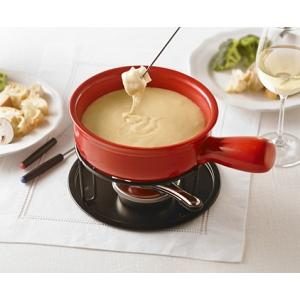 Trudeau Cardinal Red Cheese Fondue Set