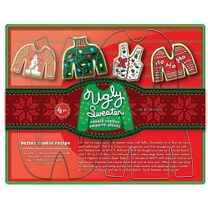 Fox Run Ugly Sweater Cookie Cutter Set