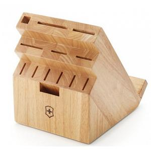Victorinox Swiss Army 13-Slot Natural Wood Swivel Knife Block