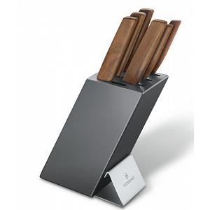 Victorinox Modern Knife Block Set with Walnut Handles