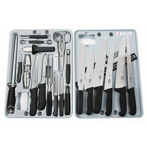 Victorinox 24-Piece Fibrox Knife Set with Case