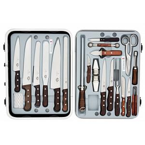 Victorinox 24-Piece Rosewood Knife Set with Case