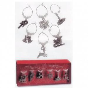 Holiday Wine Charms Set of 6