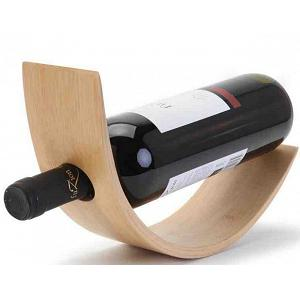 Natural Living Bamboo Wine Bottle Holder