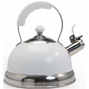 Danesco Ch'a Zenia 2.5L Stainless Steel / White Whistling Kettle