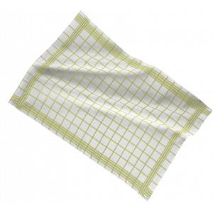 Ziczac Set of 3 Green Checkmate Kitchen Towels