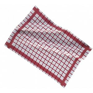 Ziczac Set of 3 Red Checkmate Kitchen Towels