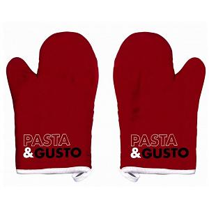 Ziczac Set of 2 Red Pasta & Gusto Oven Mitts