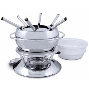 Swissmar Zuri 11-piece 3 in 1 Stainless Steel Fondue Set